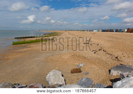 Hayling Island beach near Portsmouth south coast of England UK