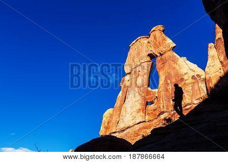 Hike in Canyonlands National Park, Utah,USA