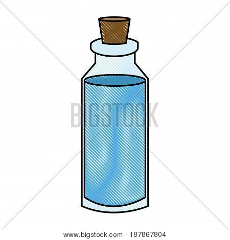 spa bottle essencial oil treatment aroma vector illustration