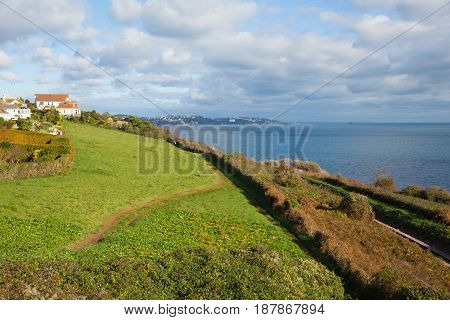 South west coast path towards Torquay England UK from Salturn Cove