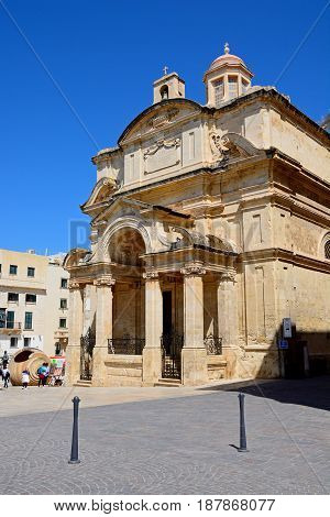 VALLETTA, MALTA - MARCH 30, 2017 - St Catherine of Alexandria Church Valletta Malta Europe, March 30, 2017.