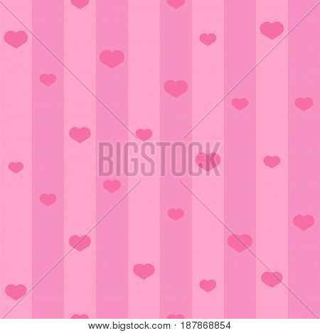 Pink seamless heart pattern. Seamless heart background vector