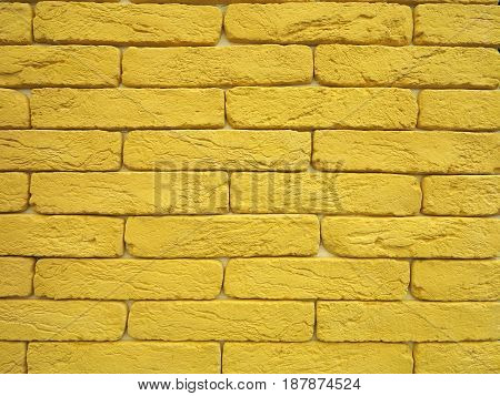 New Yellow Brick Wall Texture Grunge Background
