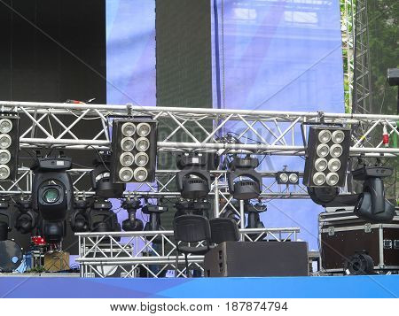 Professional Lighting Equipment Projectors, Led Light On Stage Structures