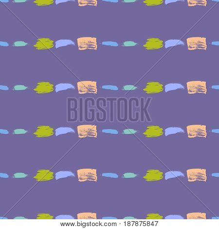 Abstract vector background with horisontal lines. Hand drawn brush stroke artistic seamless pattern. Digital or wrapping paper.
