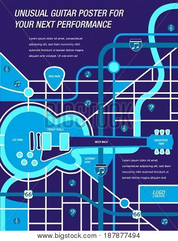 It' a map!  It's a Poster!  It's a Guitar!  Actually it's all three.