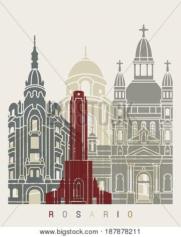 Rosario Skyline Poster