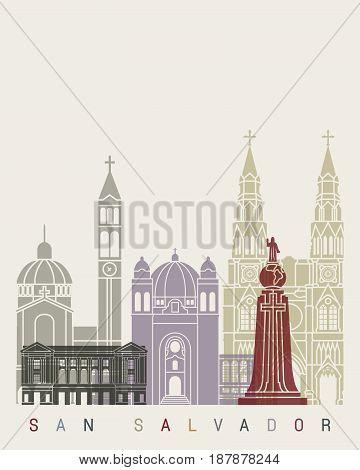 San Salvador Skyline Poster