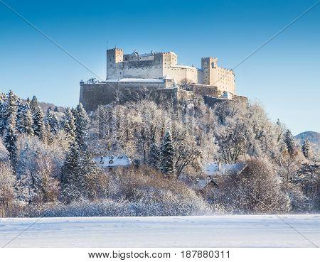 Hohensalzburg Fortress In Salzburg, Salzburger Land, Austria