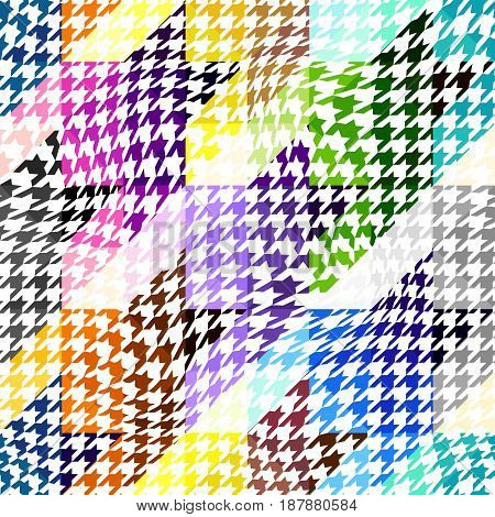Seamless geoemtric pattern. Classic Hounds-tooth pattern in abstract style