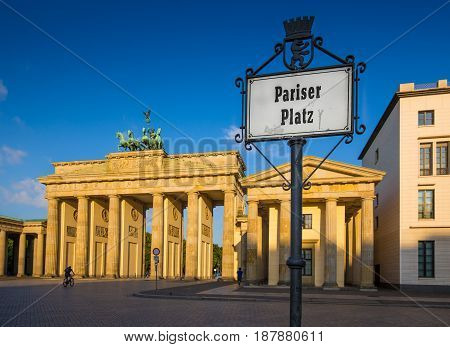 Brandenburg Gate At Sunrise, Berlin, Germany
