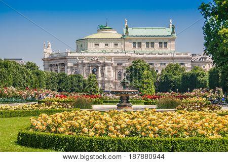 Volksgarten Public Park With Burgtheater, Vienna, Austria