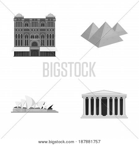 Building, interesting, place, palace .Countries country set collection icons in monochrome style vector symbol stock illustration .