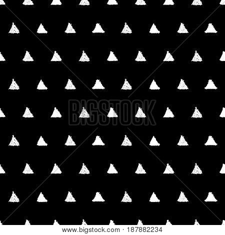 Seamless pattern with triangles. Hand painted pastel crayon. Grunge background. Design element for wallpapers, invitations, birthday card, scrapbooking, fabric print etc. Vector illustration.