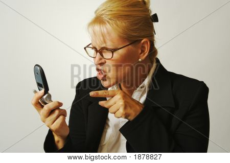 Business Woman Angry On The Cell Phone