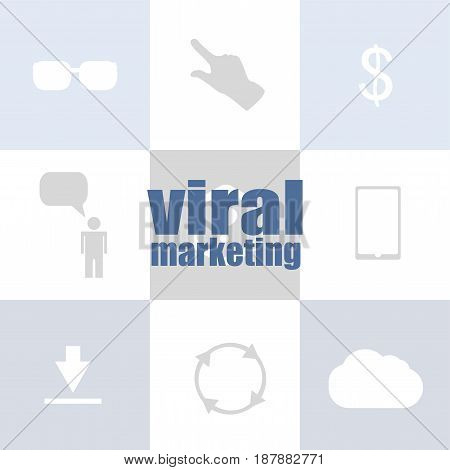 Marketing Concept. Words Viral Marketing . Infographic Template For Presentations Or Information Ban