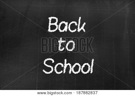 Blackboard With The Text 'back To School'