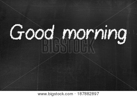 Blackboard With The Text 'good Morning'