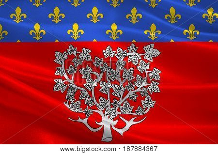 Flag of Amiens it is the capital of the Somme department in Hauts-de-France and commune in northern France. 3d illustration
