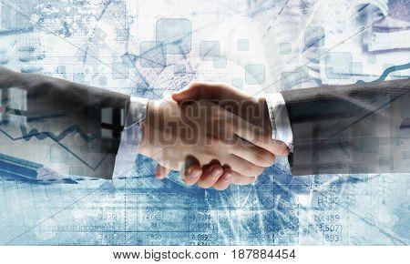 Business handshake as symbol for partnership