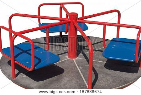 the Children's playground on a white background