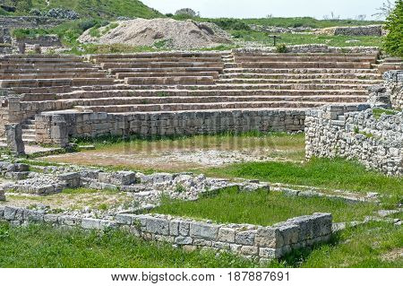 Theater. Ruins of ancient greek colony Khersones