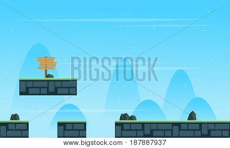 Collection stock scenery game background style vector art