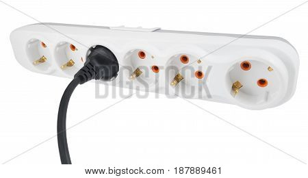 the Electric extension isolated on white background