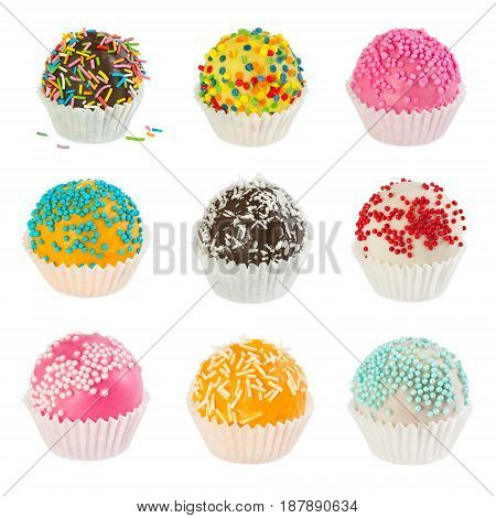 Set Of Different Cake Balls
