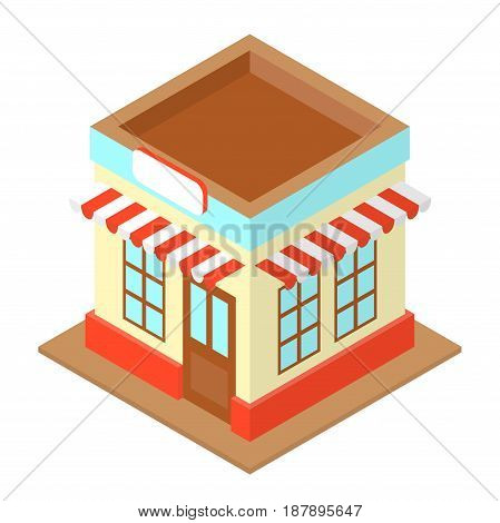 Shop Isometric Illustration With Sign