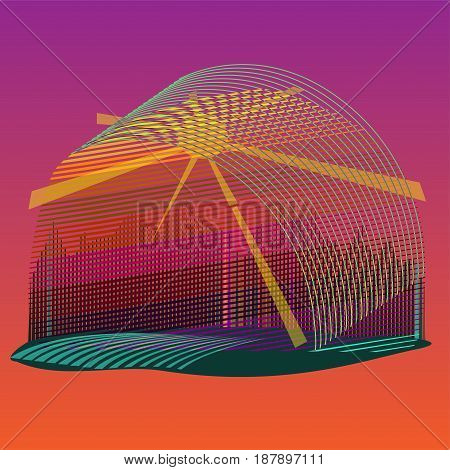 Retro style vintage background. Vector illustration olorful and bright