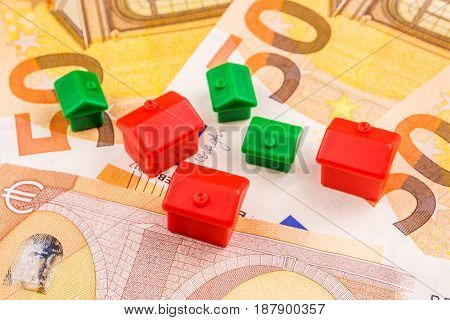 Real Estate Business Investment With New 50 Euros As A Background