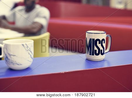 Coffee Cups on Table in Pantry Room