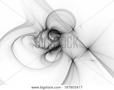Glowing plasma curves in space texture computer generated abstract inverted intensity map background black and white 3D rendering