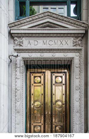 Detail around a Gold Door from 1920
