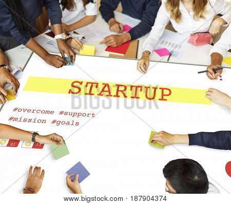 People meeting investment startup plan marketing strategy