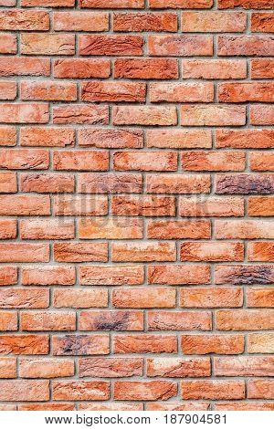 Modern Red Brick Facade Vertical