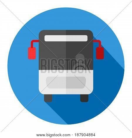 Bus flat design icon Part of travel icons set