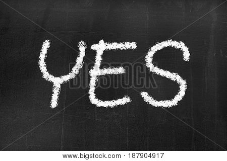 Blackboard With The Text 'yes'