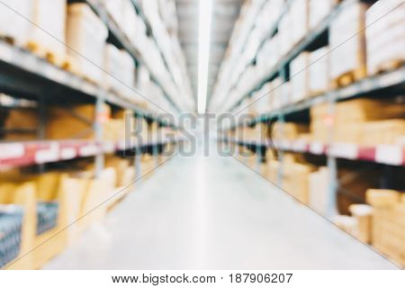 Warehouse Blurred Industrial Homemart Box Store
