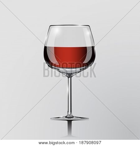 Realistic vector illustration of a glass. Cognac glass. Clip art - cognac glass. Element of desing. Cognac in a glass.