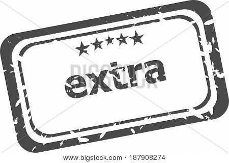 Extra Grunge Rubber Stamp Isolated On White