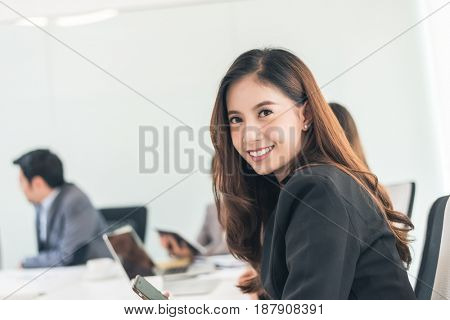 smiling business woman portrait of Asian