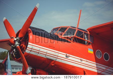 Old Well-groomed Biplane Of Soviet-made