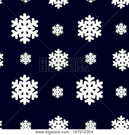 Seamless pattern with snowflak. Black and white simple and elegant wallpaper. EPS10 vector illustration