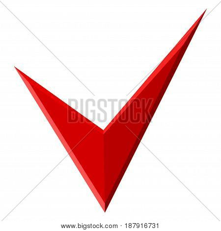Red Check mark for design. Vector illustration