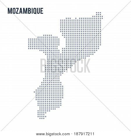 Vector Pixel Map Of Mozambique Isolated On White Background