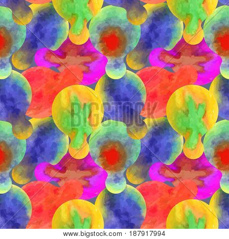 Watercolor seamless texture. Vector pattern. Abstract bright background.