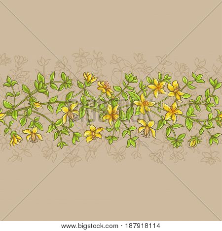 tutsan vector seamless pattern on color background