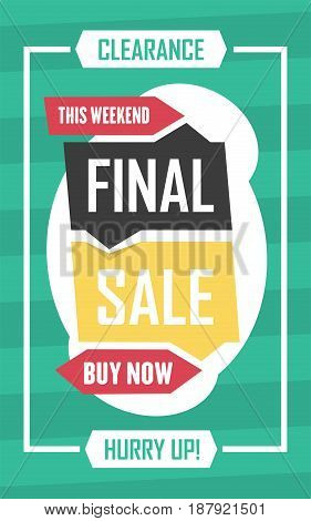 Social Media Final Sale Banner. Vector Illustrations For Website And Mobile Website Banners, Posters